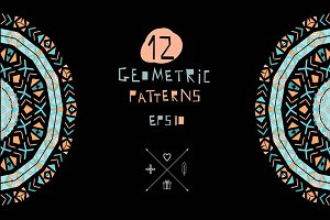 12 ethnic geometric patterns