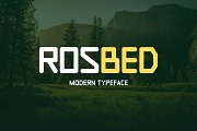 Rosbed Typeface