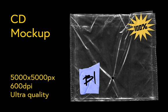CD Package Plastic Mockup in Product Mockups - product preview 8