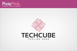 Tech Cube Logo Template