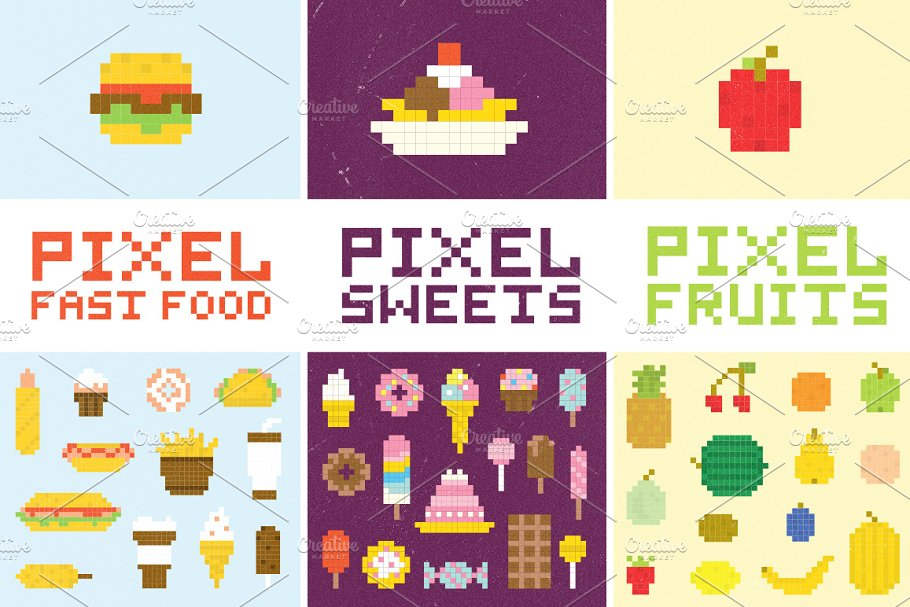 Pixel Art Kawaii Nourriture Frite