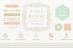 Wedding Blog Kit Elements EPS