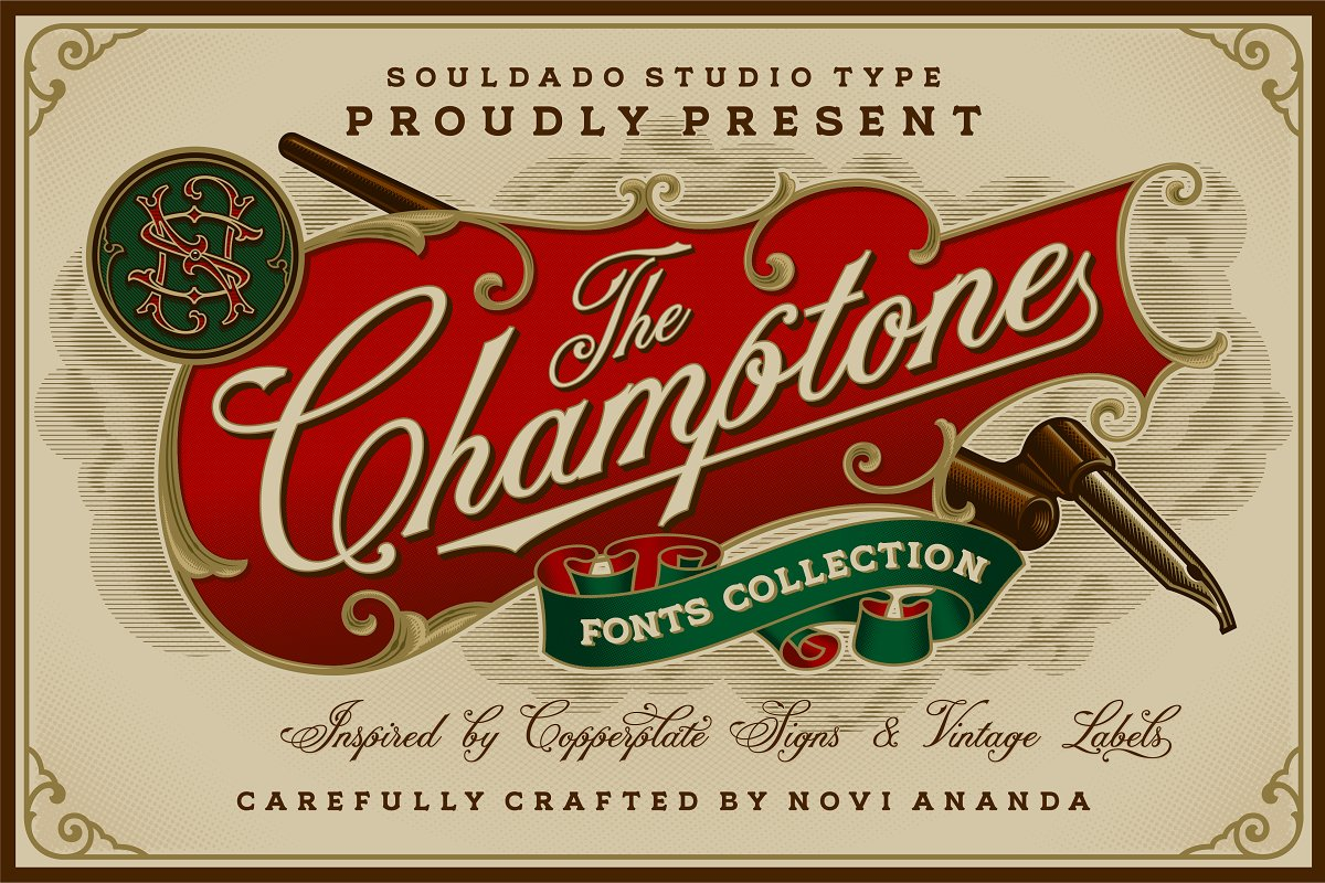 NS CHAMPTONE Fonts Collection