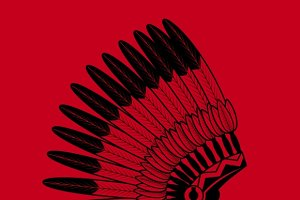 Indian feathers war bonnet