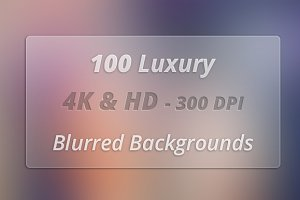 100 pcs 4K & HD Blurred Background