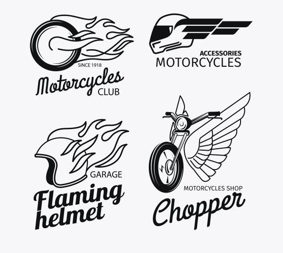 Motorcycle race logo set ~ Graphics ~ Creative Market