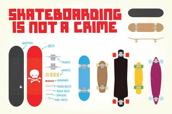 Big skateboarding set