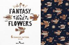 Fantasy Bird & Flowers