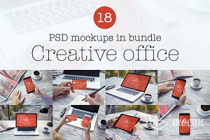 18 PSD Mockups Creative Office