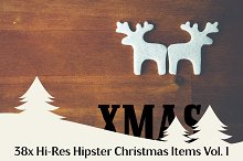 38x Hi-Res Hipster Xmas Items Vol. 1