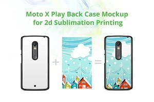 Moto X play 2d Case Design Mock-up