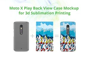 Moto X Play 3d Case Design Mock-up