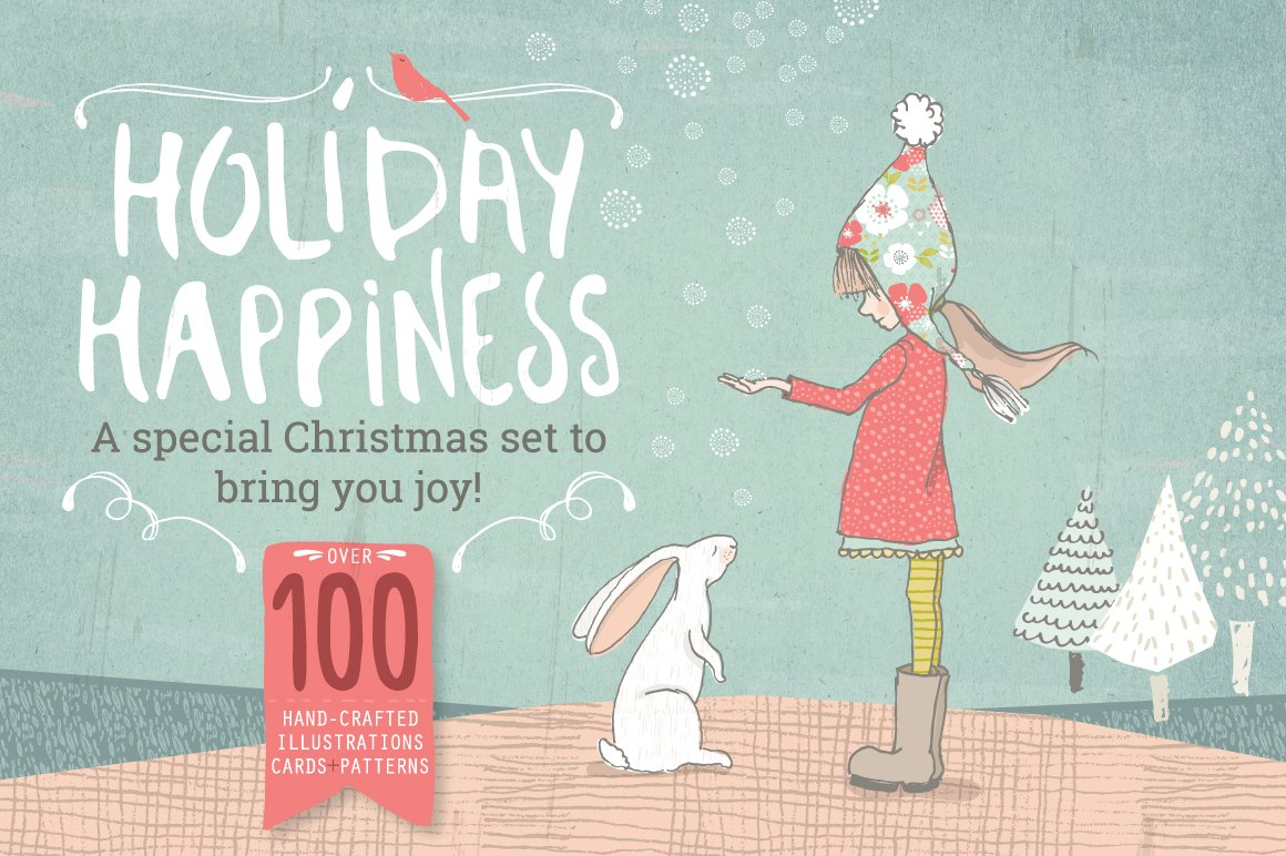 holiday amp christmas bundle illustrations creative market