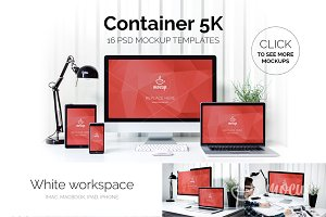 16 PSD Mockups Container 5K