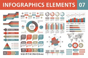 Infographics Elements - Vector Set 7