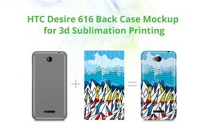 HTC Desire 616 3d Case Design Mockup