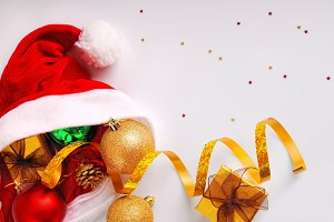 Santa Claus hat with decoration top