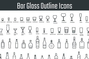 Bar Glass Icons