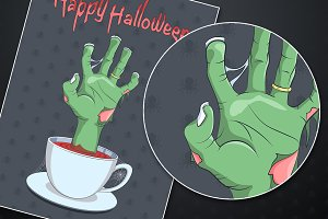 Halloween Zombie's hand Background
