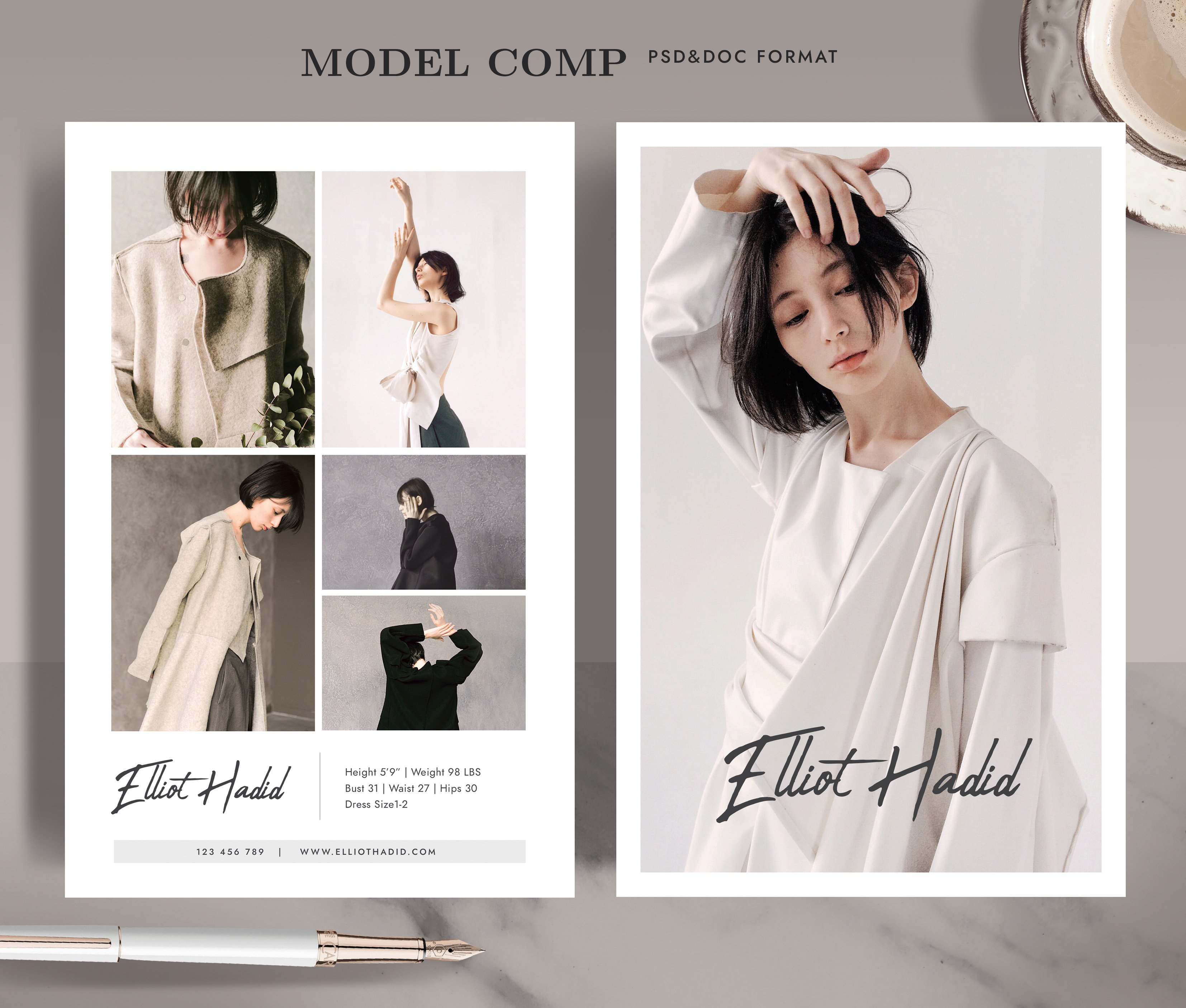 Modeling Comp Card Template MC21 Pertaining To Comp Card Template Psd