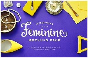 10 Feminine Mockups Pack