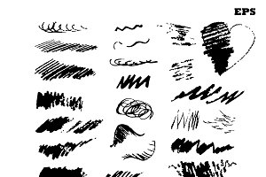 Set of various grunge  brush