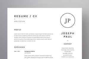Joseph Paul - Resume/CV Template