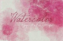 12 Pink Watercolors