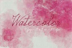 12 Pink Watercolors