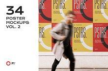 34 poster mockup bundle vol.2