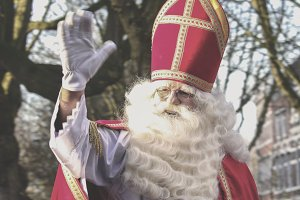 Sinterklaas arriving in Holland