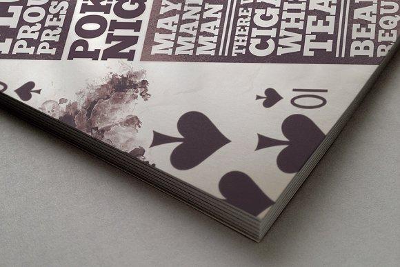 poker night flyer flyer templates on creative market. Black Bedroom Furniture Sets. Home Design Ideas