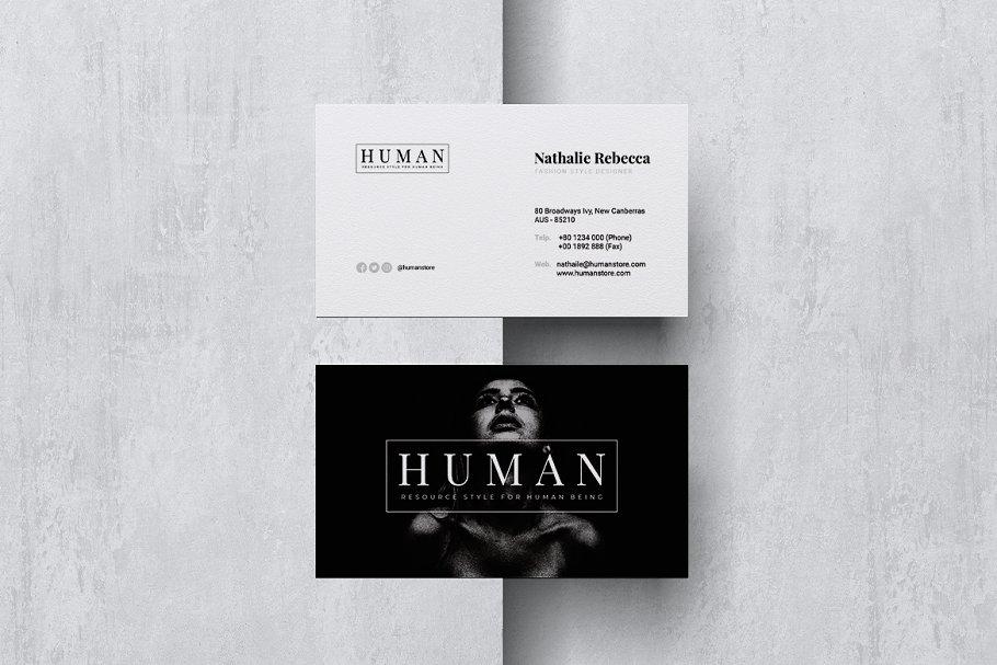 HUMAN Minimalist Business Card