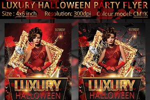 Luxury Halloween Party Flyer