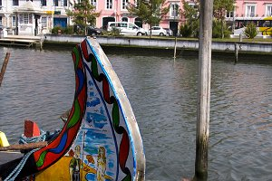 Typical vessels of Aveiro, Portugal