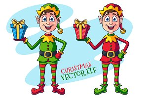 Cartoon Christmas Elf Character