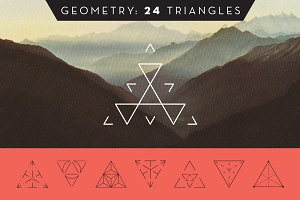 Geometry: 24 Triangles