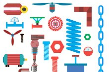 Set of Industrial Vector Items.
