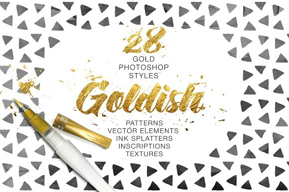 Goldish Kit. Gold Styles with Extras - Layer Styles