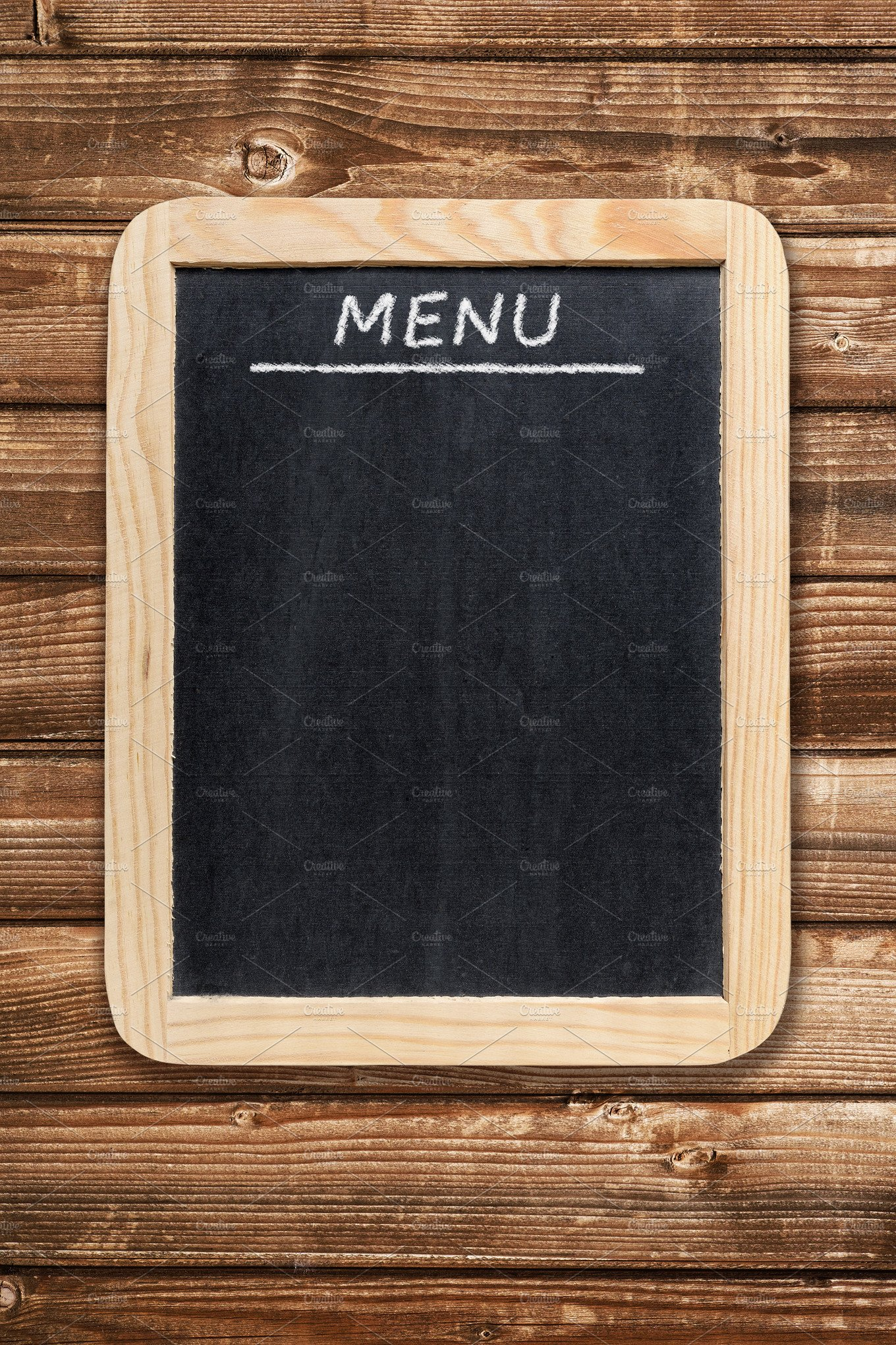 Menu board on wooden background ~ Food & Drink Photos ...