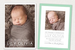 Birth Announcement Template CB011