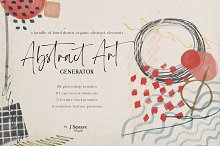 Abstract Art Generator- PSD Brushes