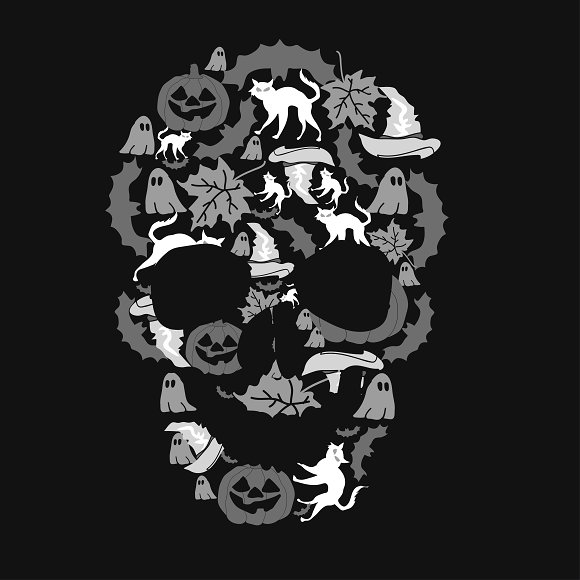 the day of halloween. skull. - Illustrations