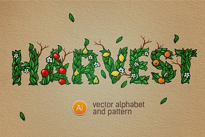 Full editable alphabet & patterns