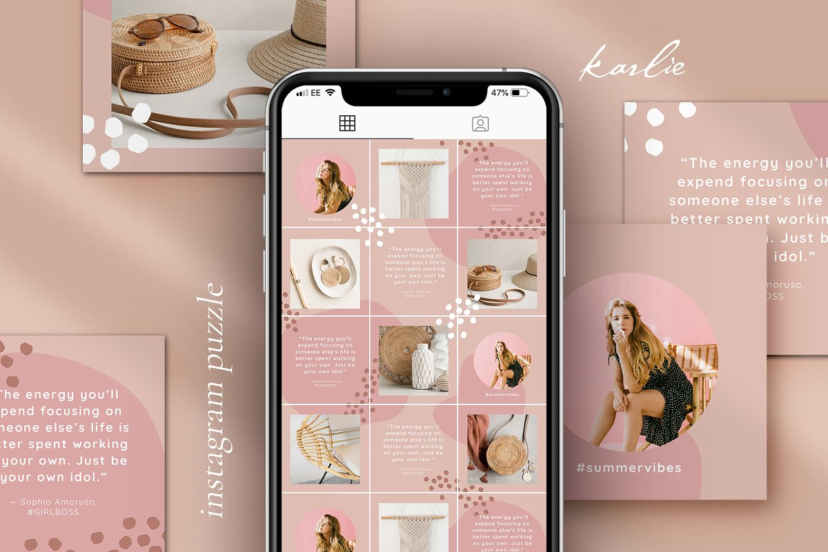 Instagram Puzzle Grid Highlights Instagram Templates