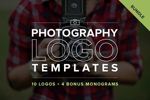 Photography Logo Templates Bundle