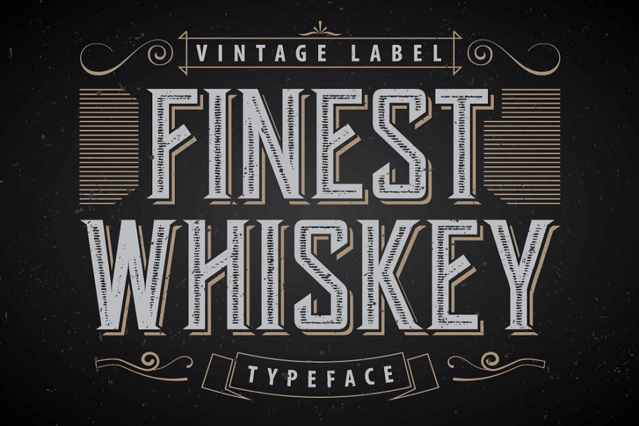 Another Whiskey Label Font