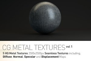 5 Metal Textures for CG Artists