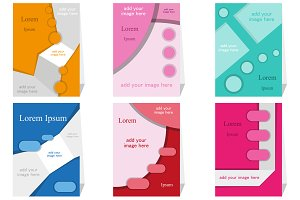 Set of different brochures