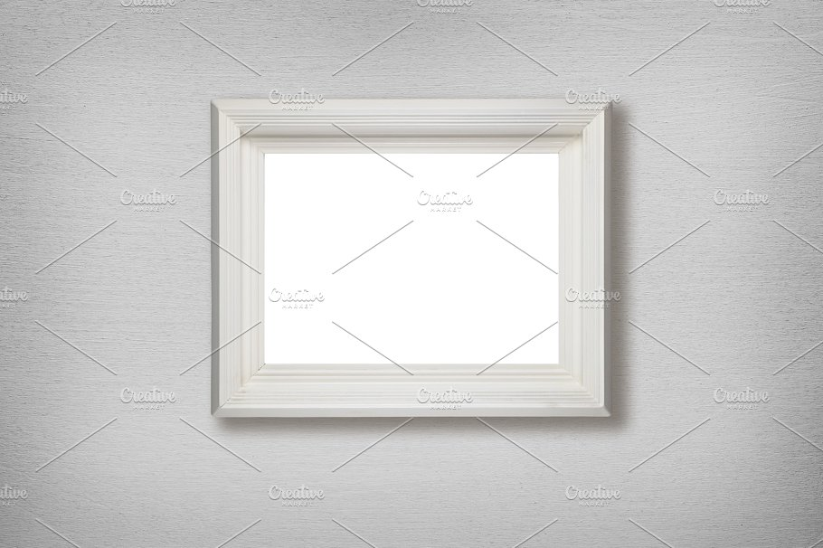Old picture frame hanging on wall ~ Abstract Photos ~ Creative Market